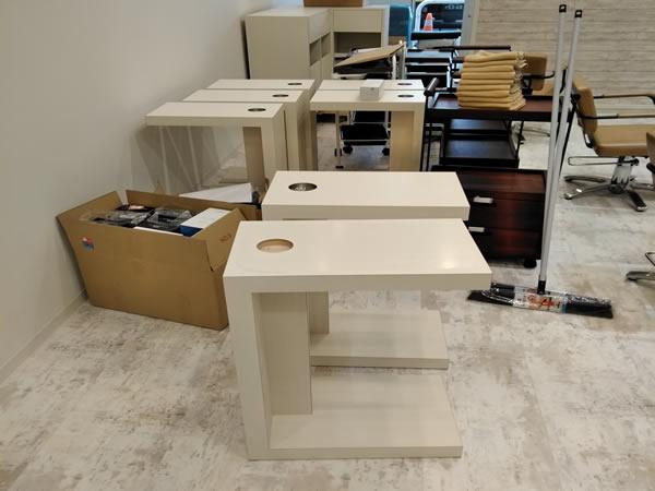 製作途中のコーヒーテーブル